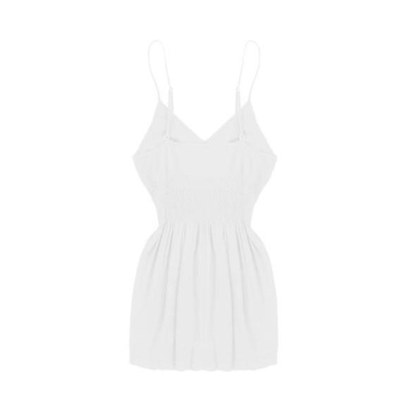 BohoBeauRoseBoutique Tops - SugarLips Seamless Smocked Camisole White